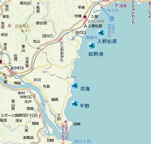 中村の地図